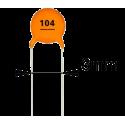 Condensador Cerámico Pasante 100nF/50v