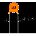 Condensador Cerámico Pasante 10nF/50v