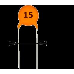 Condensador Cerámico 15pF/50v