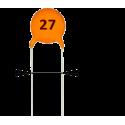 Condensador Cerámico 27pF/50v
