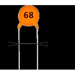 Condensador Cerámico 68pF/50v