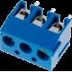 Borna Azul PCB 3 contactos
