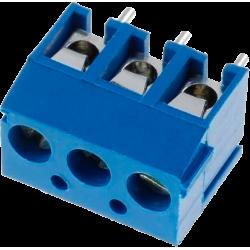 Borna Azul KF301-3P. 3 contactos