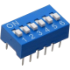 DIP Switch Azul de 6 Contactos