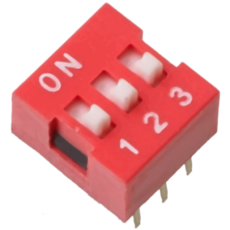 DIP Switch de 3 Contactos