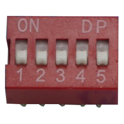 DIP Switch de 5 Contactos