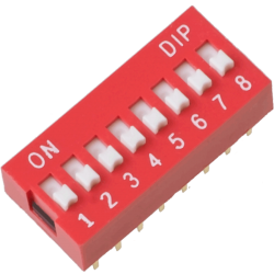 DIP Switch de 8 Contactos