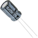 Condensador Electrolítico 220µF/25v