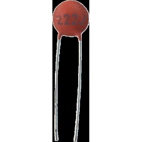 Condensador Cerámico Pasante 2,2nF/63v