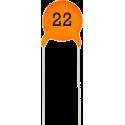 Condensador Cerámico Pasante 22pF/63v