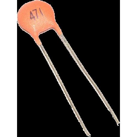 Condensador Cerámico Pasante 470pF/63v