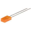 LED Rectangular Naranja 5mm.