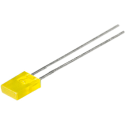 LED Rectangular Amarillo 5mm.