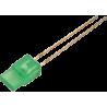 LED Rectangular Verde 3mm.