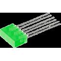 Barra 3 LED's Verdes 5mm.