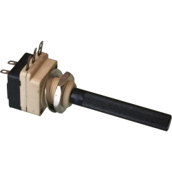 Potenciómetro Eje 6mm. de 100Kohm. con interruptor.