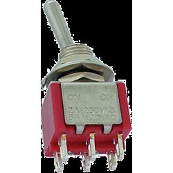 Conmutador Palanca 2 posiciones, 2 circuitos y 4 contactos