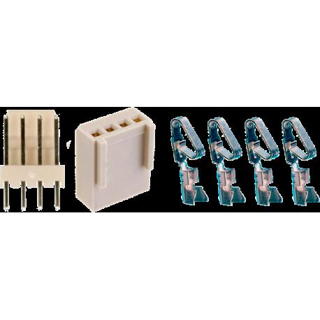 Juego Conector Molex KK de 4 contactos rectos