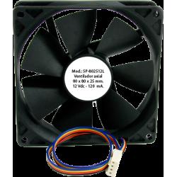 Ventilador Axial 80x80x25mm - 12Vdc