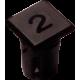 Mirilla-portaled número 2, 5mm., plástico.