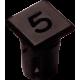 Mirilla-portaled número 5, 5mm., plástico.