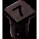 Mirilla-portaled número 7, 5mm., plástico.