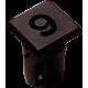 Mirilla-portaled número 9, 5mm., plástico.