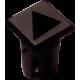 Mirilla-portaled símbolo triángulo, 5mm., plástico.
