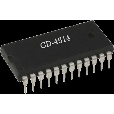 CD4514 - Decodificador de 4 Bits CMOS
