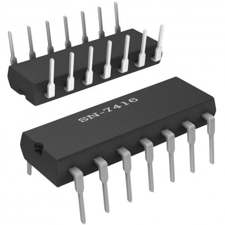 SN7416 - Séxtuple puerta inversora con salidas en colector abierto TTL